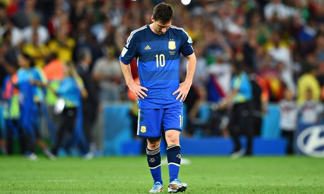 Messi after the tough World Cup final loss to Germany.