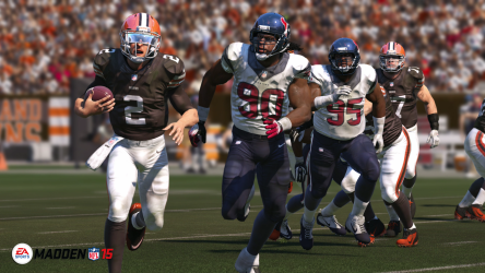 Foreshadowing? Johnny Manziel getting chased down by Jadeveon Clowney.