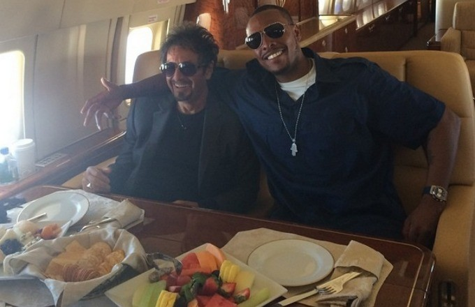 Paul Pierce and Al Pacino