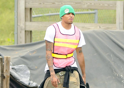 Chris Brown, Off To Work He Goes In Richmond, Virginia.