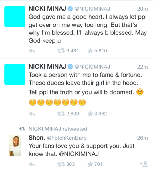 Nicki Minaj Twitter Feed